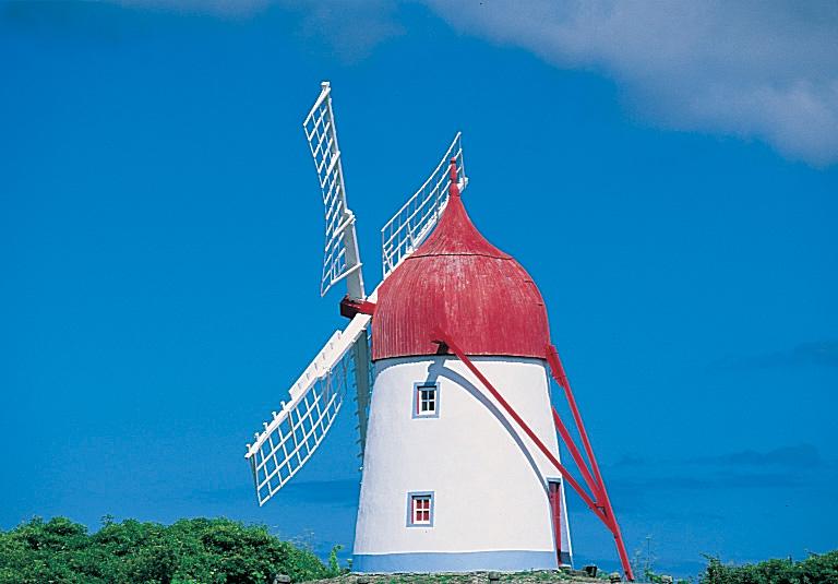 windmill in Graciosa Island, the Azores