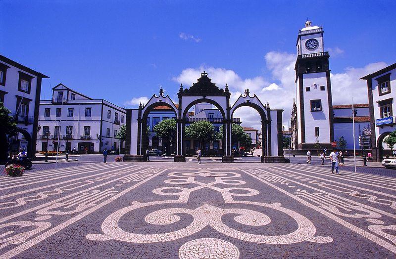 City gateway in Ponta Delgada
