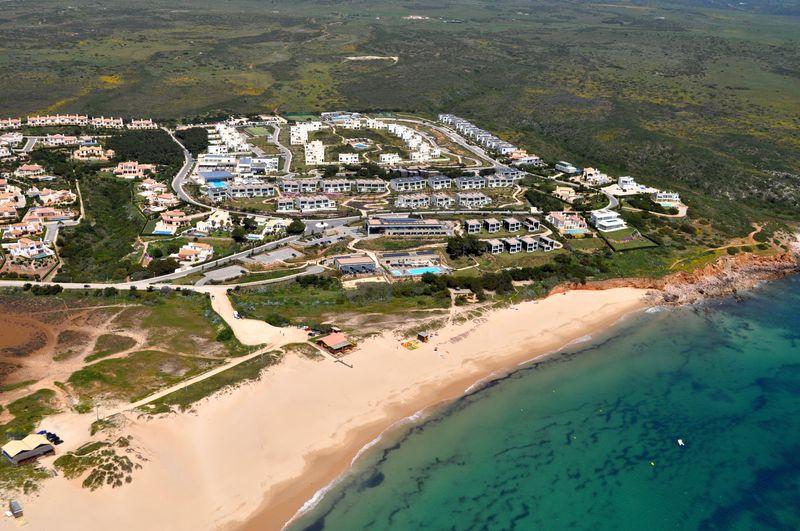 Martinhal beach aerial shot 3
