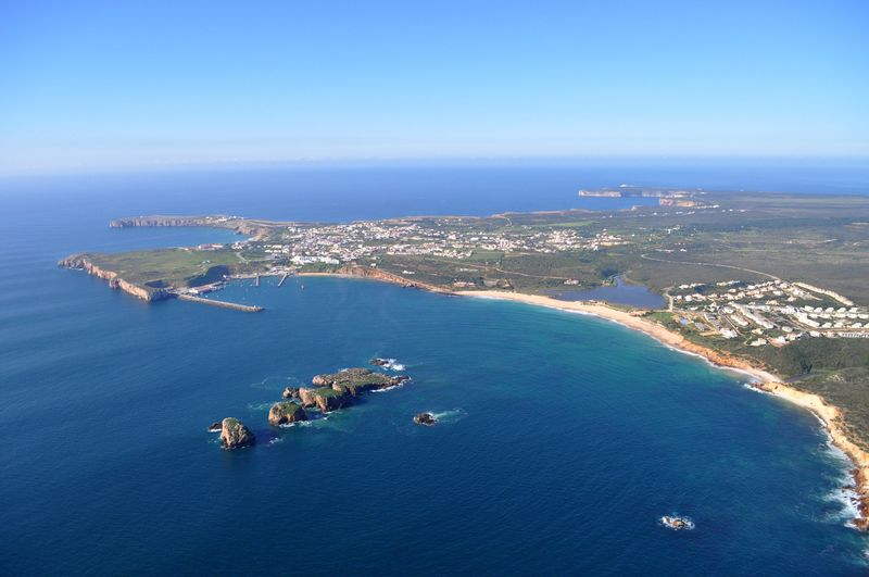 Local area-aerial Martinhal beach and Sagres region