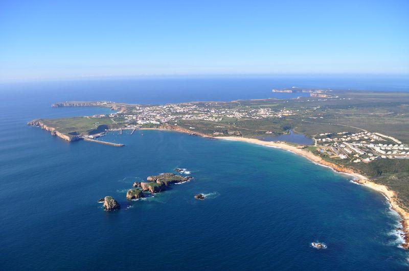 Local area-aerial Martinhal beach and Sagres region