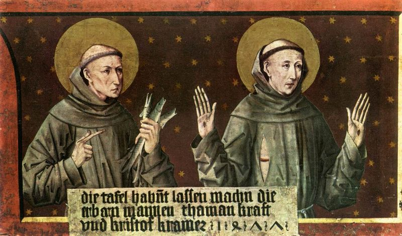 Friedrich_Pacher_-_St_Anthony_of_Padua_and_St_Francis_of_Assisi_-_WGA16806