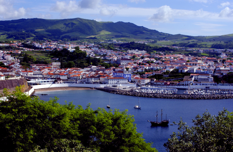 View of Angra do Heroísmo in Terceira island - Azores by Associaç╞o de Turismo dos Açores - T09AUH3U