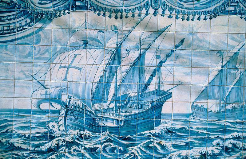 Painted tiles panel. Paáo de Arcos